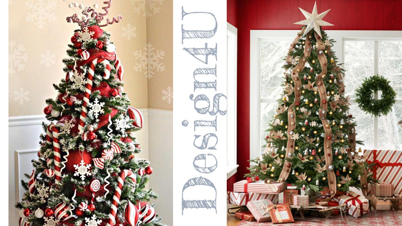 Albero Natale Decorato Rosso l'albero di natale – christmas tree 🎄 – design4u