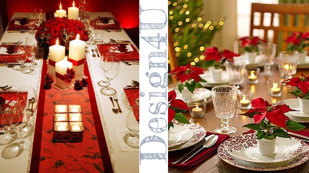 Come addobbare la tavola a natale table decoration design4u - Addobbi natalizi per tavola da pranzo ...
