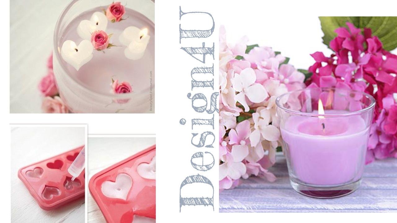 candele cuore lilla