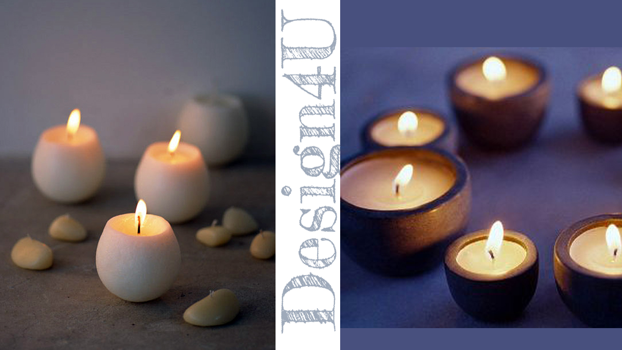 candele guscio legno