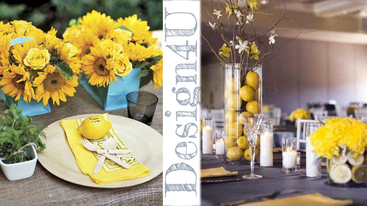 tavola giallo e limone