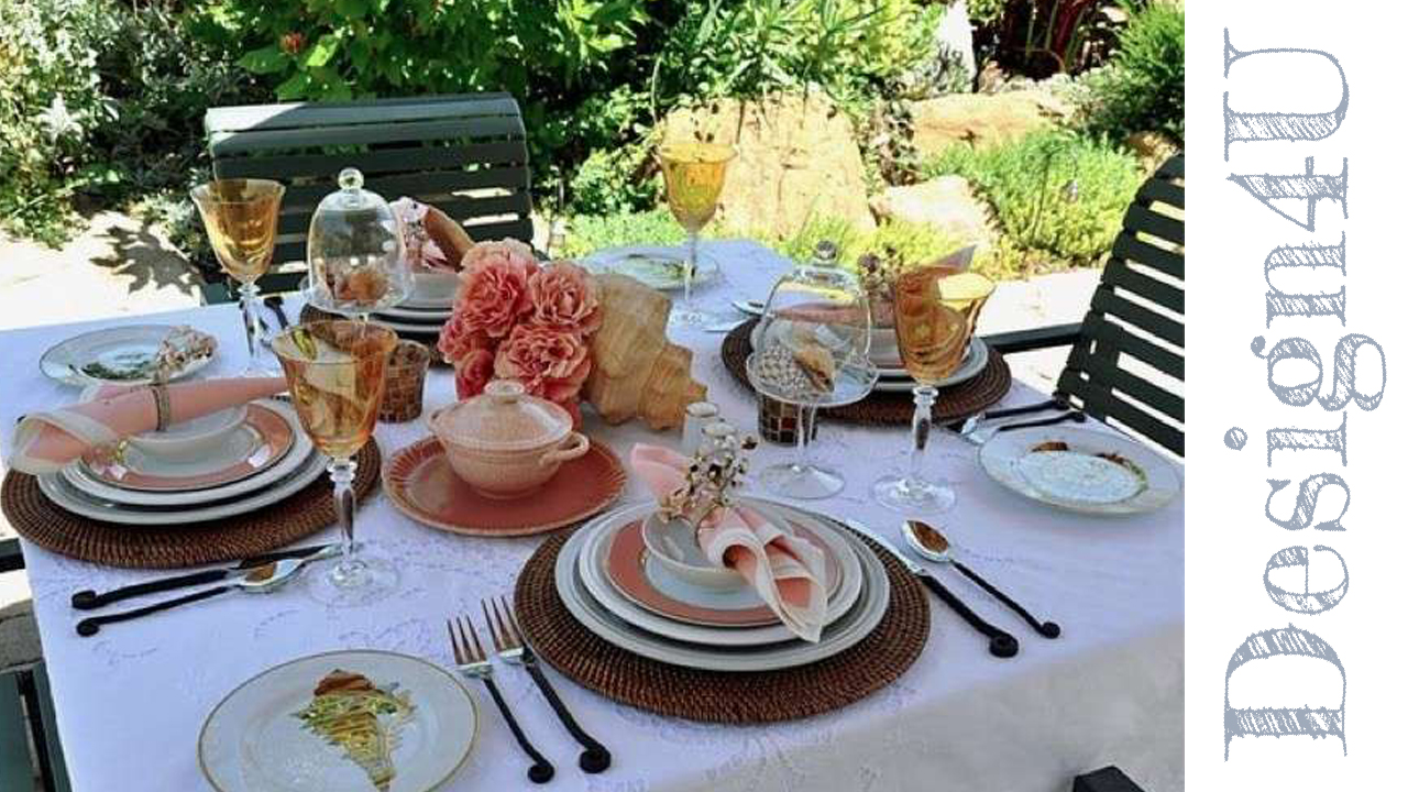 tavola rosa e giallo