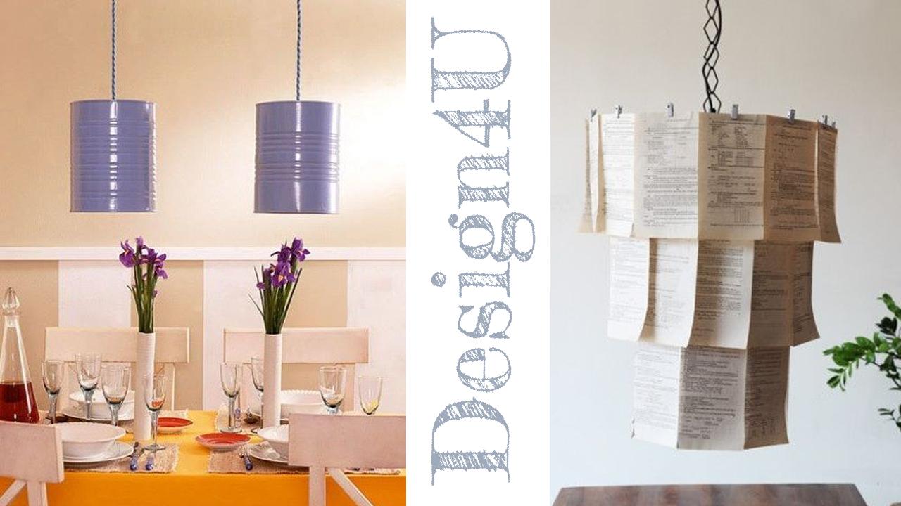 Lampadario Filo Di Ferro Fai Da Te : Lampadario fai da te u2013 diy lamp u2013 design4u