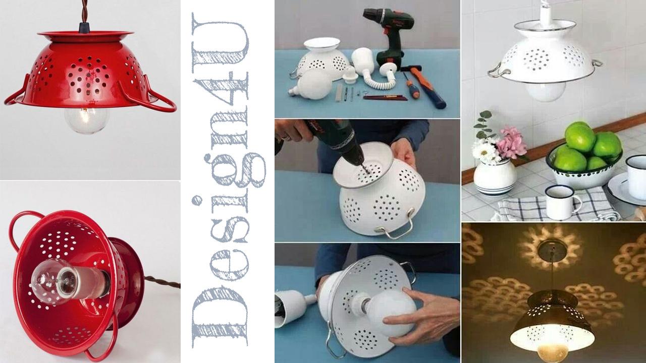 Lampadario Filo Di Ferro Fai Da Te : Lampadario fai da te u diy lamp u design u