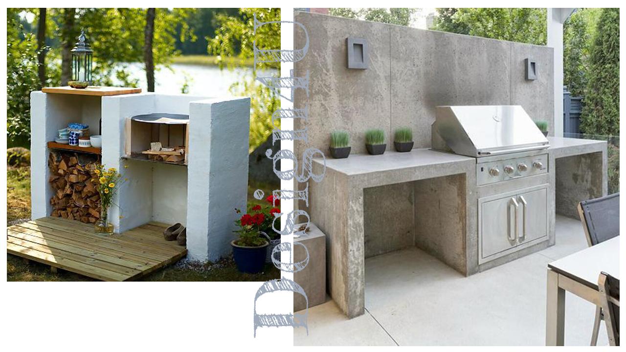 Mobile Bar Per Esterno angolo barbecue – design4u